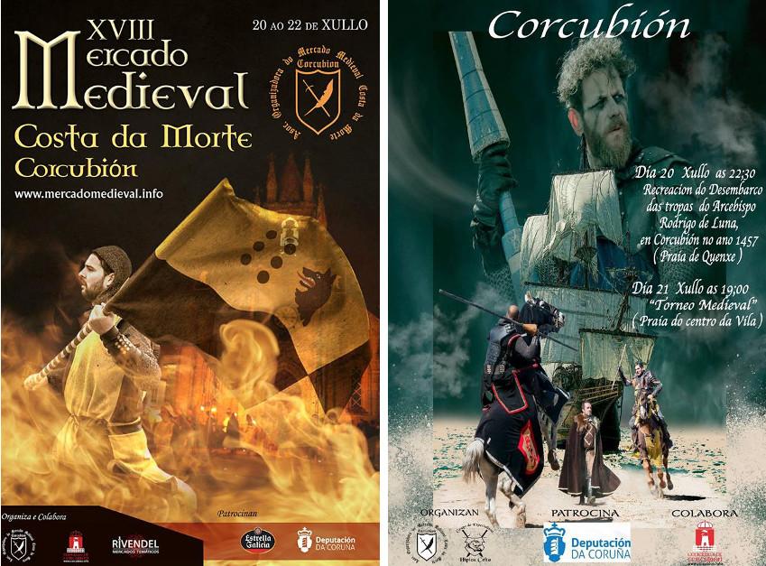 Mercado Medieval Costa da Morte, Corcubión Historia, Feiras e mercados medievais