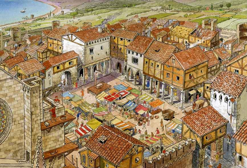 A vida nuhna cidade medieval Recuncho da historia, Historia, Idade Media