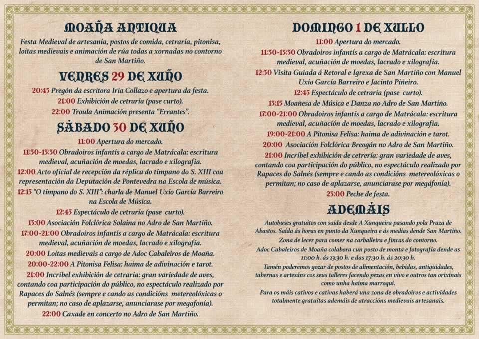 Festa Moaña Antiga San Martiño Historia, Feiras e mercados medievais