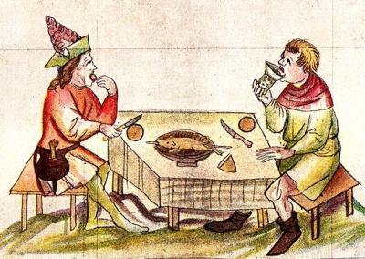 A gastronomía e a mesa na Idade Media Historia, Idade Media, Recuncho da historia