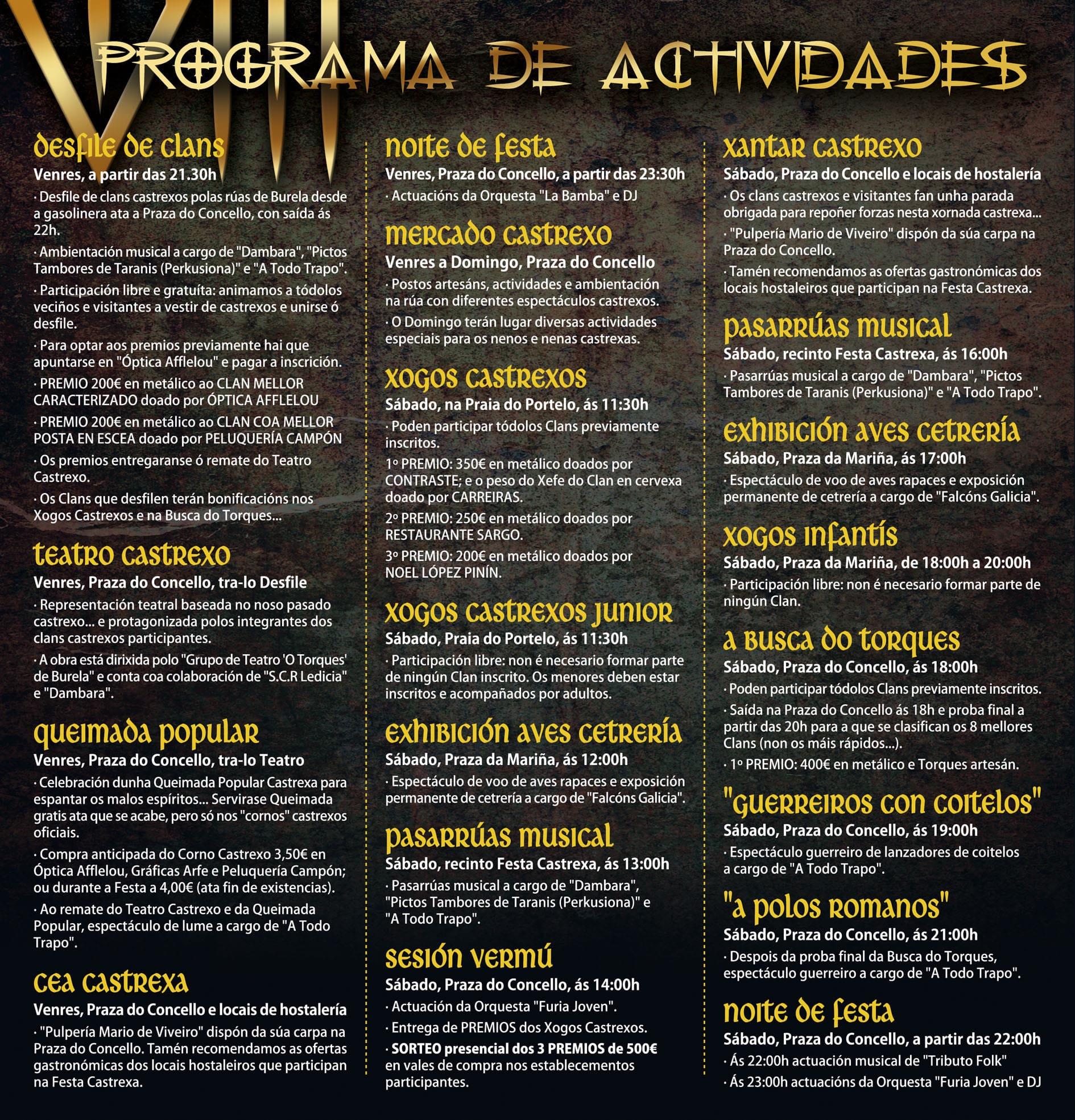 Programa Festa Castrexa Burela 2019 Feiras e mercados castrexos, Historia