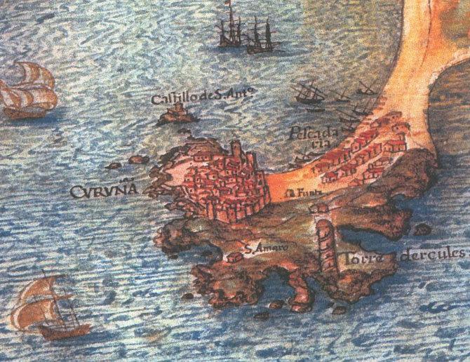 Batalla naval, A Coruña