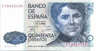 Billete de 500 pesetas. Rosalía de Castro