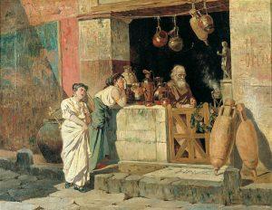 As tabernas en Roma. Viño e alimentación Historia, Mundo Romano, Recuncho da historia