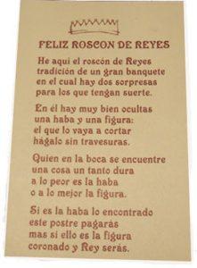 A orixe do Roscón de Reis Historia, Recuncho da historia