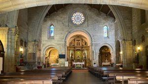 Interior, iglesia Santiago Apóstol, A Coruña