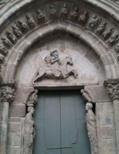 Portada Santiago Apóstol en Iglesia de Santiago, A Coruña
