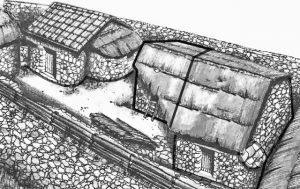 Repro0ducción edificio donde apareció la Tábula