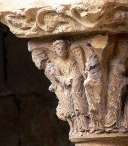 Anunciación en Capitel Santo Domingo de Silos