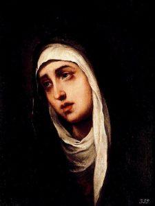 Virgen Dolorosa, de Murillo