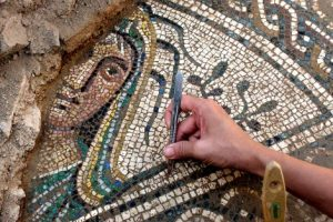 Mosaico romano, en Cástulo