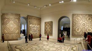Sala de grandes mosaicos romanos. Museo Arqueológico Nacional. Madrid