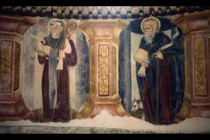 Pinturas en el Monasterio de Santa Cristina de Ribas do Sil