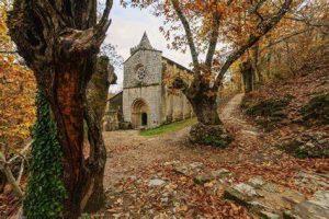 Vista del Monasterio de Santa Cristina de Ribas do Sil
