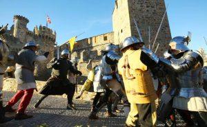 Recreacion del asedio del Castillo de Ponferrada por los Irmandiños