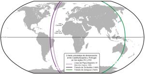 Líneas Colonias España (Castilla) y Portugal