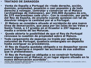 Extracto contenido Tratado de Zaragoza